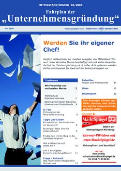 ePaper Cover - Unternehmensgründung 2008