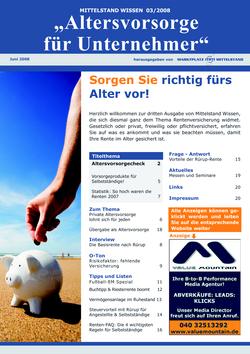 Cover Rentenversicherung