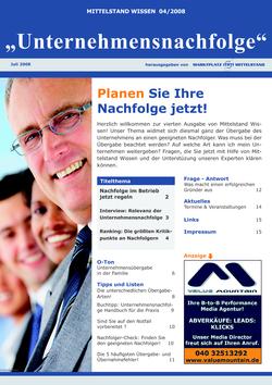 ePaper Cover - Unternehmensnachfolge 2008