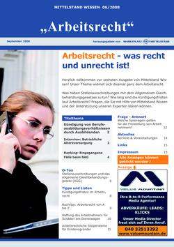 ePaper Cover - Arbeitsrecht 2008