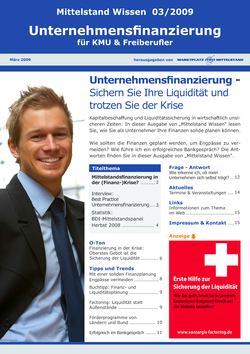ePaper Cover - Unternehmens-Finanzierung 2009