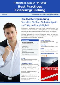 ePaper Cover - Existenzgründung 2009