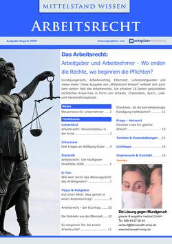 ePaper Cover - Arbeitsrecht 2009