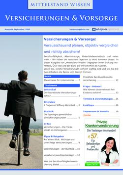 ePaper Cover - Versicherungen & Vorsorge 2009