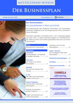 ePaper Cover - Der Businessplan 2009