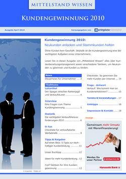 ePaper Cover - Kundengewinnung 2010