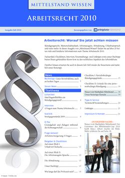 ePaper Cover - Arbeitsrecht 2010