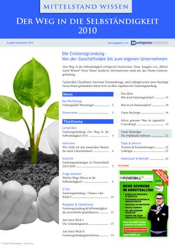 ePaper Cover - Selbstständigkeit 2010