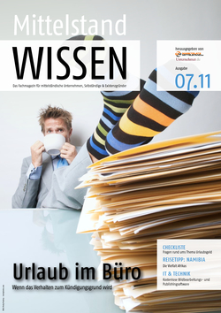 ePaper Cover - Recht für Unternehmer 2011