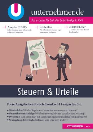 ePaper Cover - Steuern & Urteile 2015