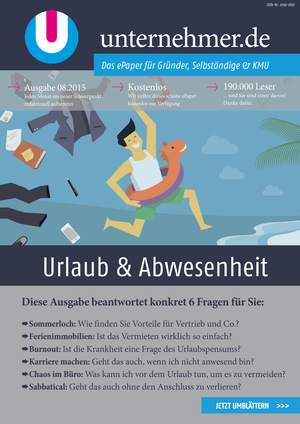 ePaper Cover - Urlaub & Abwesenheit 2015