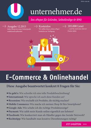 ePaper Cover - E-Commerce & Onlinehandel 2015