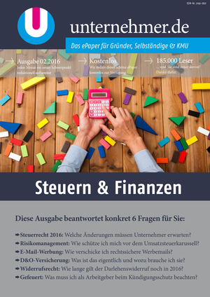 ePaper Cover - Steuern & Finanzen 2016
