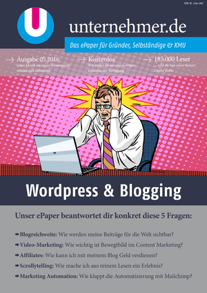 ePaper Cover - Wordpress & Blogging 2016