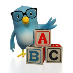 Bluebert with toy blocks ABC