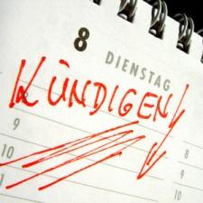 kalender mit eintrag kündigen