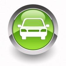 Car glossy icon