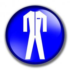 Button - Schutzkleidung Tragen (Gebotszeichen)