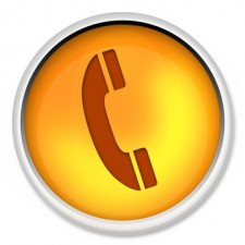 telephone icon, web button