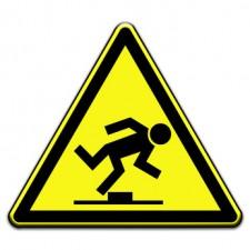 Warnschild - Stolpergefahr