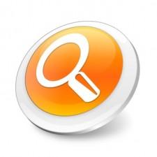 Orange 3d search icon