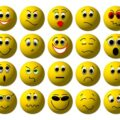 20 smileys gelb