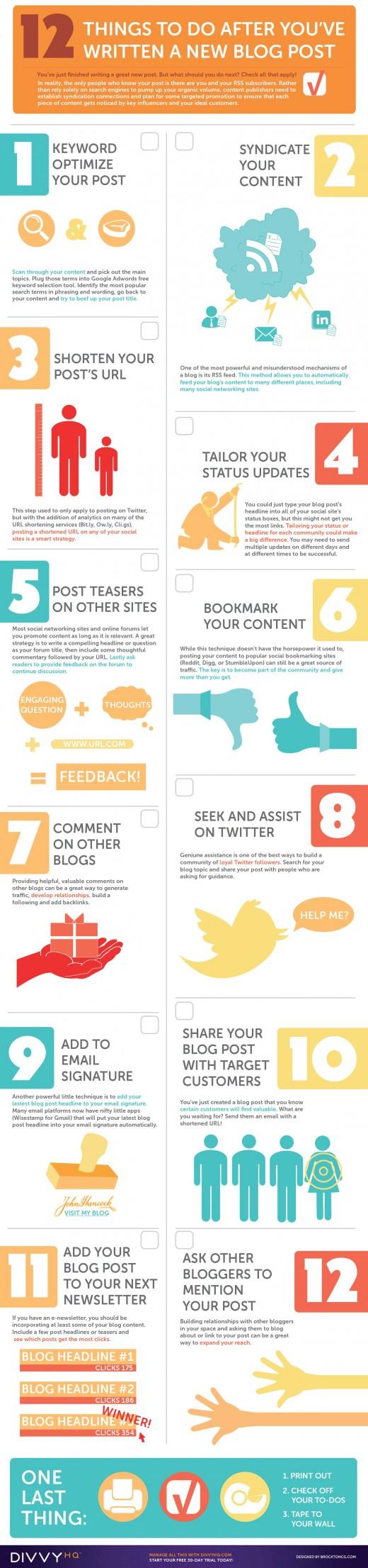 12 Tipps für die Verbreitung von Blogeinträgen [Infografik]