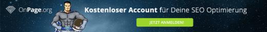 OnPage: Kostenloser Account