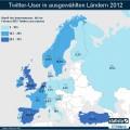Eine Twitter-Europakarte