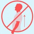 Symbol schlechte Haltung