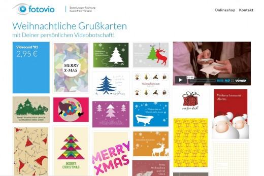 Screenshot Online-Shop von Fotovio