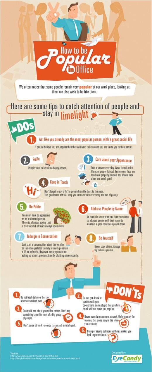 Beliebtheit am Arbeitsplatz Infografik