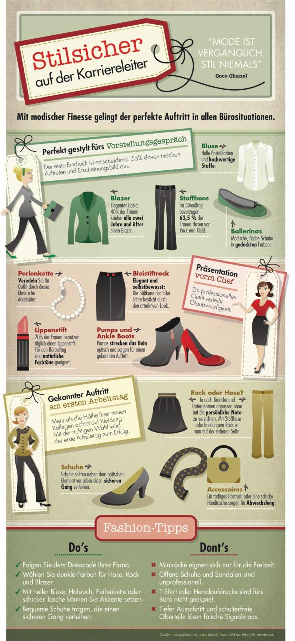 Ihr Outfit im Büro: So kleiden Sie sich passend![Infografik]