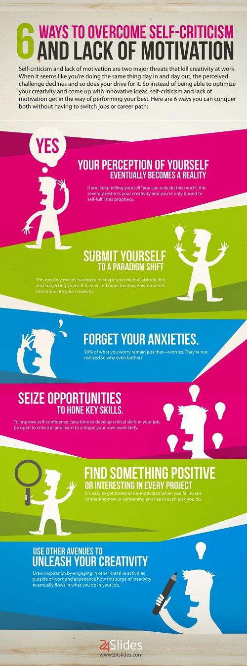 Motivation im Job: 6 Tipps gegen Selbstzweifel & Panik [Infografik]