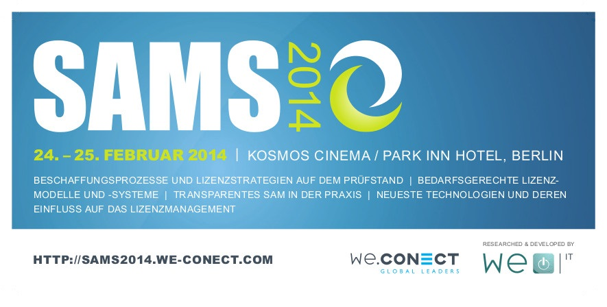 Veranstaltungstipp: SAMS 2014 - Software Asset Management Strategies