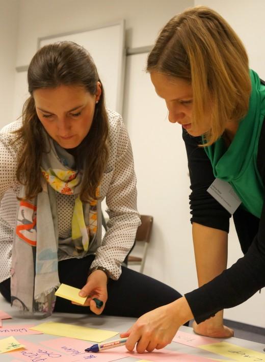Im Workshop ist vor allem Teamarbeit der Schlüssel zum Erfolg