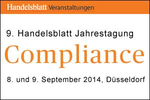 """Veranstaltungstipp: 9. Handelsblatt Jahrestagung """"Compliance"""""""