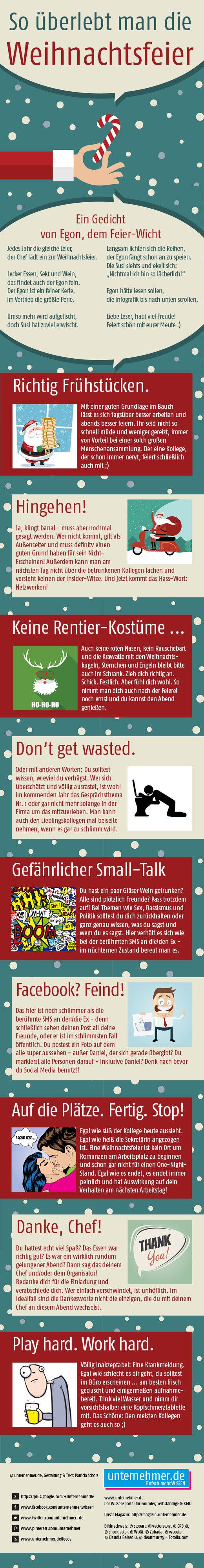 Die Firmen-Weihnachtsfeier: So überlebt man sie!