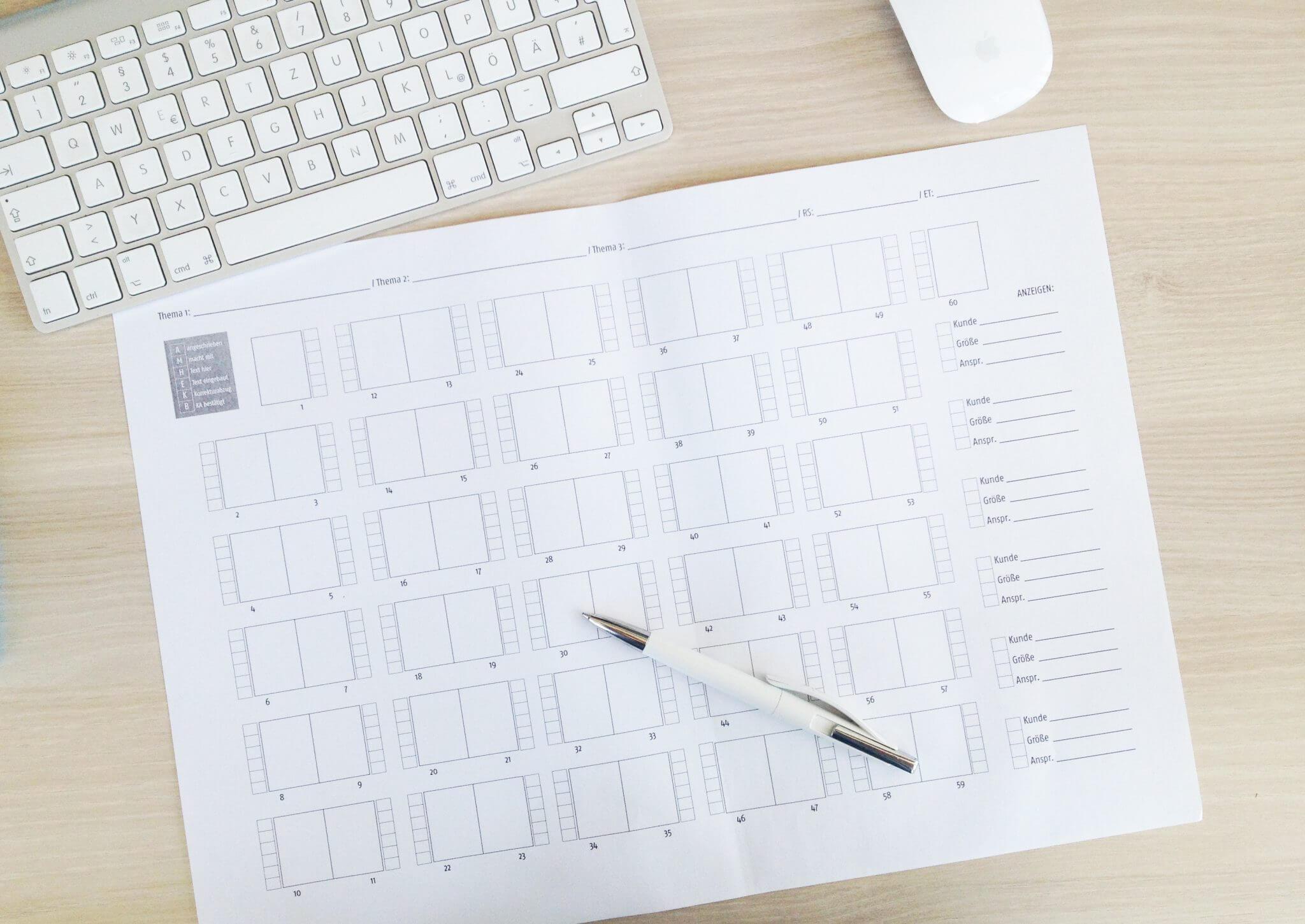 Magazin Planung Sheet
