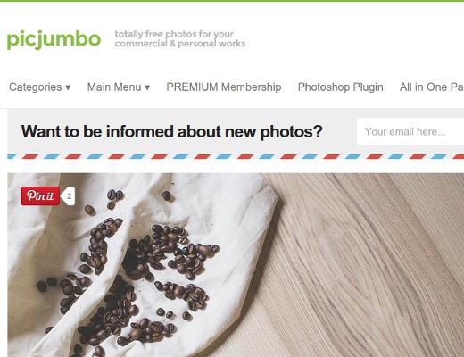 Picjumbo - komplett freie Fotos für kommerzielle/persönliche Arbeiten