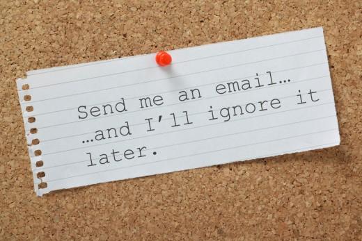 Durch Spam-Filter aussortierte elektronische Anwaltspost