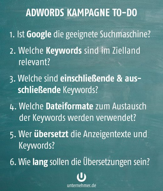 google-adwords-international-checkliste
