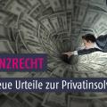 Insolvenz- und Versicherungsrecht: Urteile im November 2016