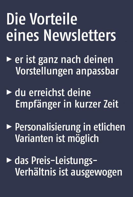 Die Vorteile eines Newsletters
