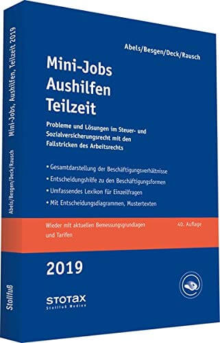Buchtipp: Minijobs, Aushilfen, Teilzeit 2019