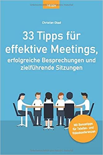 Buchtipp - 33 Tipps für effektive Meetings
