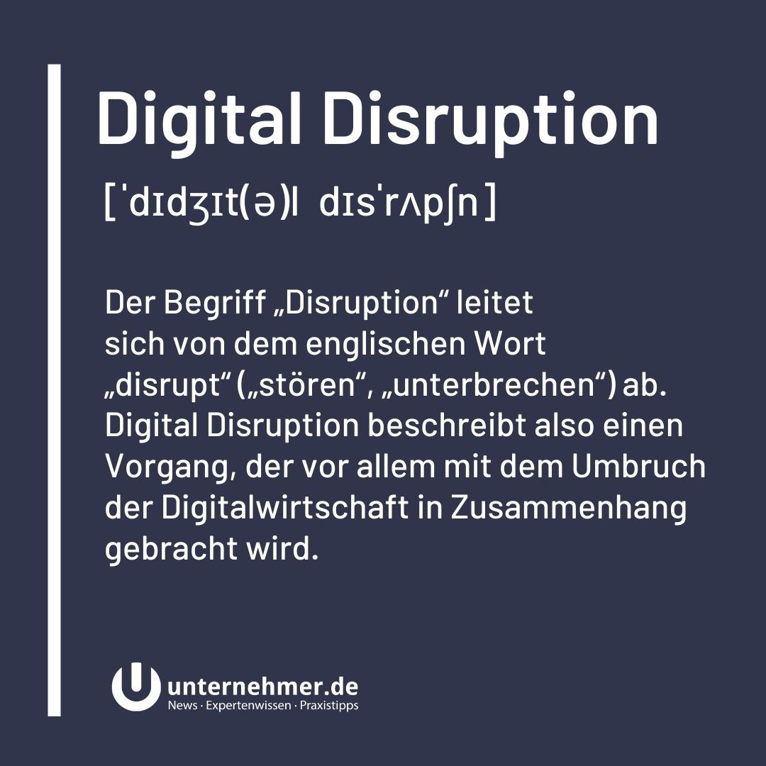 Lexikon: Digital Disruption