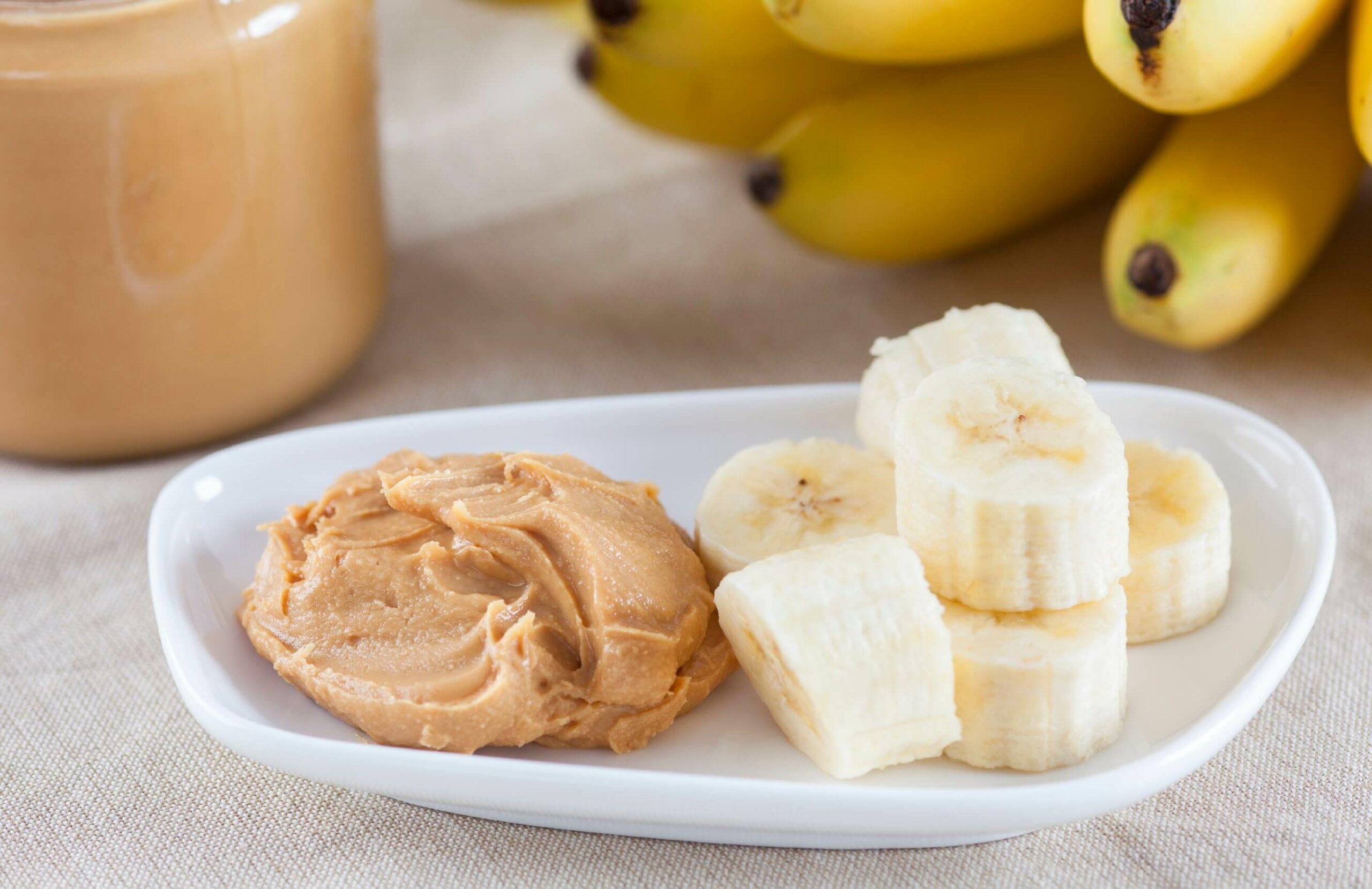 Ideen für deinen Bürosnack: Banane mit Erdnussbutter