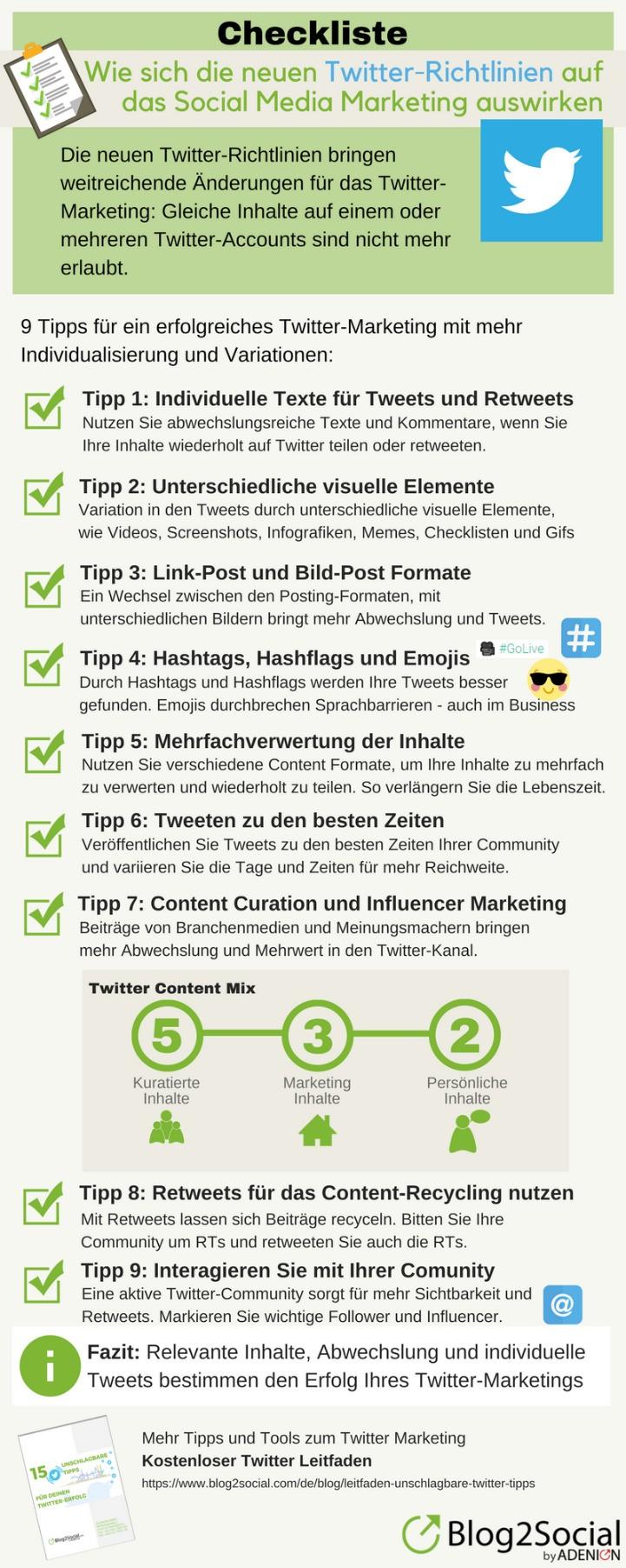 Checkliste: Neue Twitter-Regeln