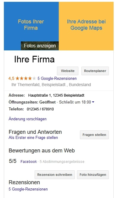 """Google My Business""-Brancheneintrag"